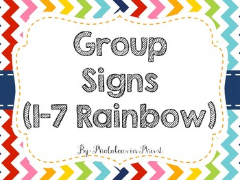 Rainbow Chevron Group Signs (Rainbow)