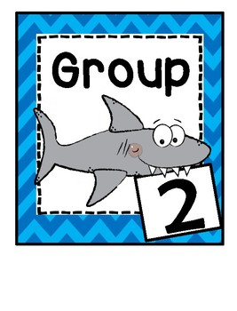 Group Signs - Shark Theme - Ocean Theme