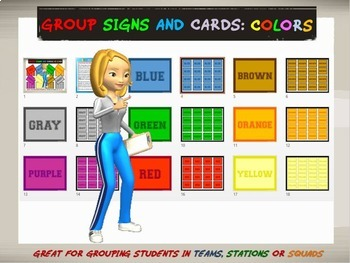Group Signs and Cards: Colors