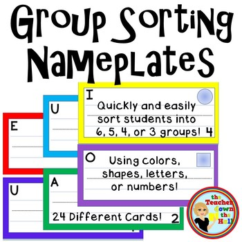 Group Sorting Nameplates - 4 different ways to sort!