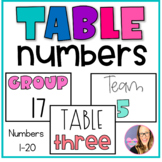 Group Table Cards- FREEBIE
