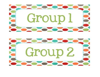 Group Table Labels