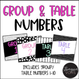 Group/Table Number Signs