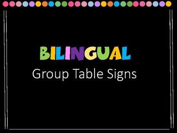 Group Table Sign / Número de Mesa