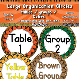 Group & Table Signs - Large circles  APT-001