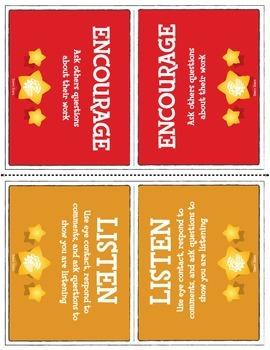 Group Talk Reminder Cards