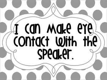 Group Talk: Speaking & Listening Posters with Peer Feedback Prompts