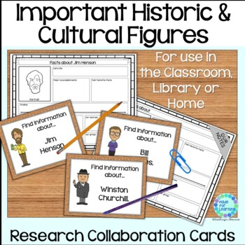 Historical and Cultural Figures Library Research Task Cards