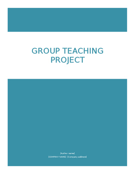 Group Teaching Project