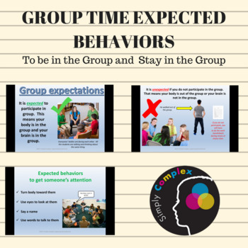 Group Time Expected Behaviors for Older Students; Brain & Body in Group