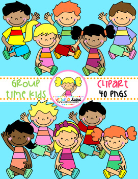 Group Time Kids Clipart