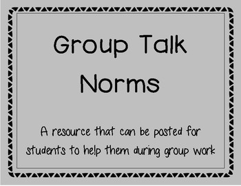 Group/Triad Talk Norms