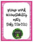 Group Work Accountability Mats MATH TEKS 5.2