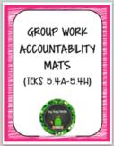 Group Work Accountability Mats MATH TEKS 5.4
