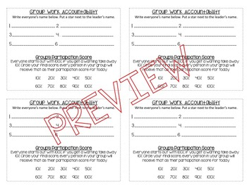 Classroom Management: Group Work Accountability for Students **Editable**