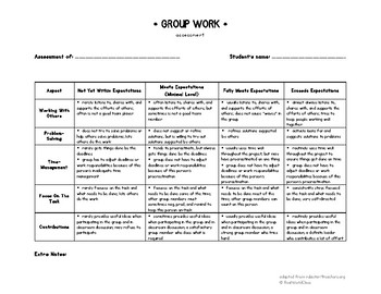 Group Work Assessment By Realworldclass Teachers Pay Teachers An assessment centre does not refer to a location, but to a process which is being increasingly used you can also expect to face an assessment centre if you apply to work for one of the major financial. group work assessment by realworldclass