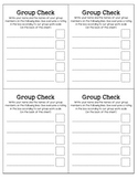 Group Work Check Form