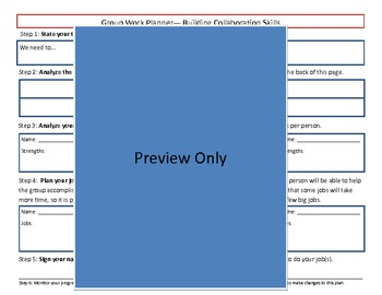 Group Work Collaboration Planner