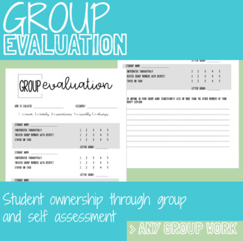 Group Work Evaluation
