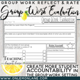 Group Work Evaluation Individual Reflection Rate Increase Student Accountability