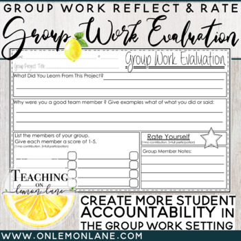 Group Work Evaluation, Individual Reflection and Rate