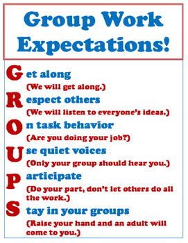 Group Work Expectaions