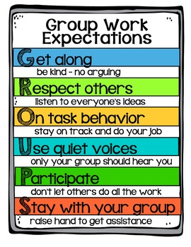 Group Work Expectation Anchor Chart - Special Request