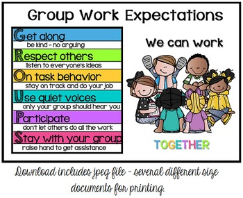 Group Work Expectation Visual