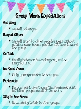 Group Work Expectations Poster