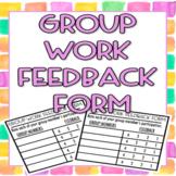 FREEBIE-Group Work Feedback Form