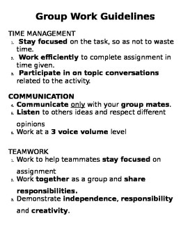 Group Work Guidelines