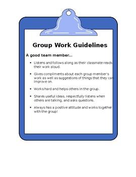 Group Work Guidelines FREEBIE!