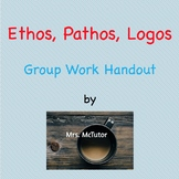 Group Work Handout for Ethos, Pathos, Logos