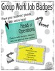 Group Work Job Badges - So Official!