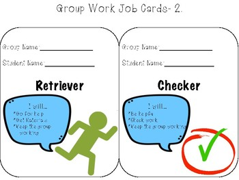 Group Work- Job Cards
