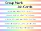 Group Work Job Cards