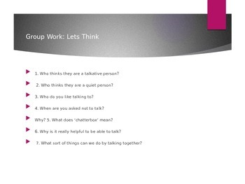 Group Work Lesson