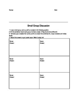 Group Work Organizer