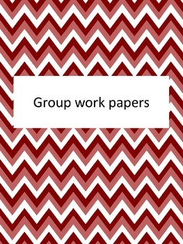 Group Work Papers
