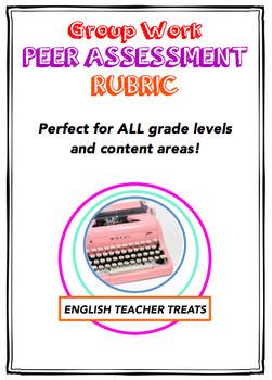 Group Work Peer Assessment Rubric
