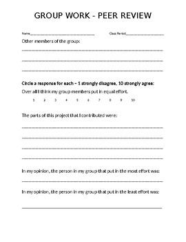 Group Work - Peer Review