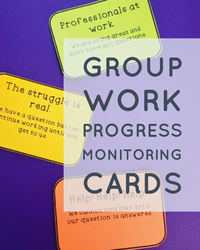 Group Work Progress Monitoring Cards