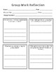 Group Work Reflection Sheets