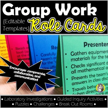 Group Work Role Cards {Editable Templates}