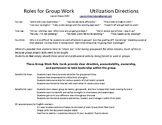 Group Work Role Cards - Utilization Guide