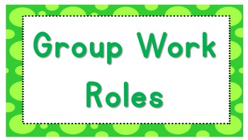 Group Work Roles posters
