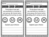 Group Work Rubric - Smileys