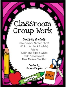 Group Work Rubric and Anchor Chart