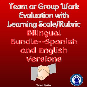 Group Work/Team Work Evaluation with Learning Scale Bilingual Bundle
