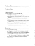 Group Work - job sheet for participating